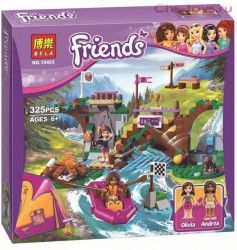 Конструктор Bela Friends Спортивный лагерь: сплав по реке 10493 (Аналог Lego Friends 41121) 325 дет